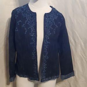 Chico's Jean Jacket size 1